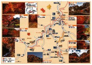 耶馬渓紅葉マップ2018_ナカ面のサムネイル