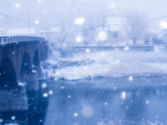 大雪警報の朝 「馬渓橋」 瀬戸間 博 様(2016年2月)