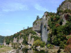 青の洞門(全景)