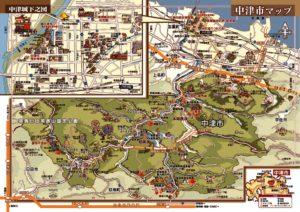 中津市観光イラストマップ