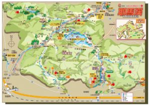 耶馬渓観光マップ